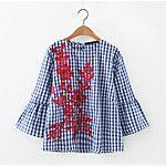 Feminino Camisa Social Para Noite Casual Sensual Simples Moda de Rua Primavera Outono,Sólido Listrado Floral Algodão Decote RedondoManga de 2017 por R$49.9