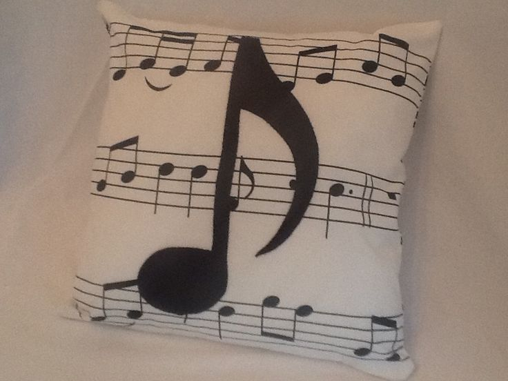 Music Note Throw Pillow. $25.00, via Etsy.                                                                                                                                                                                 More