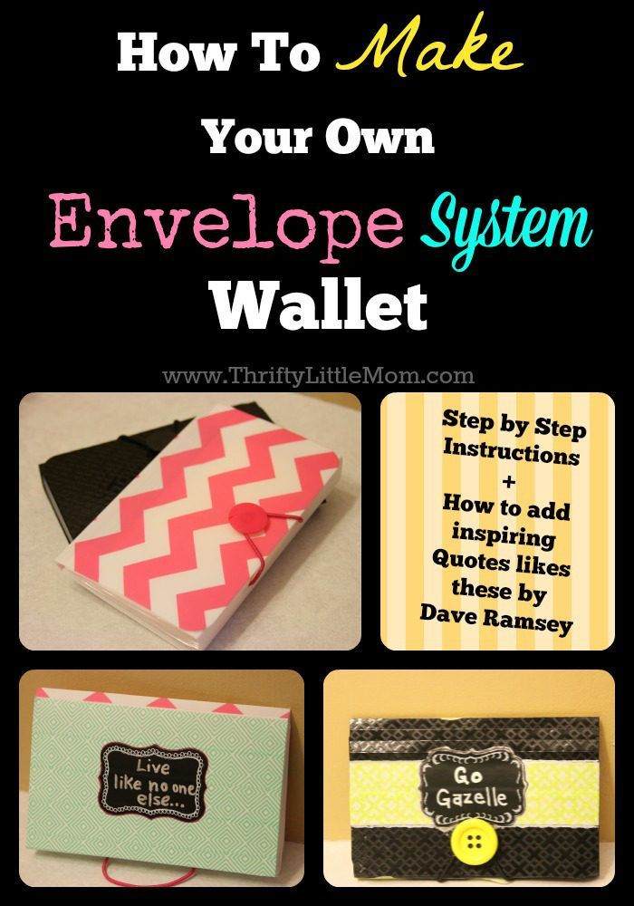 How To Make Your Own Envelope System Wallet. Inexpensive materials combined to make a fun envelope cash system wallet!