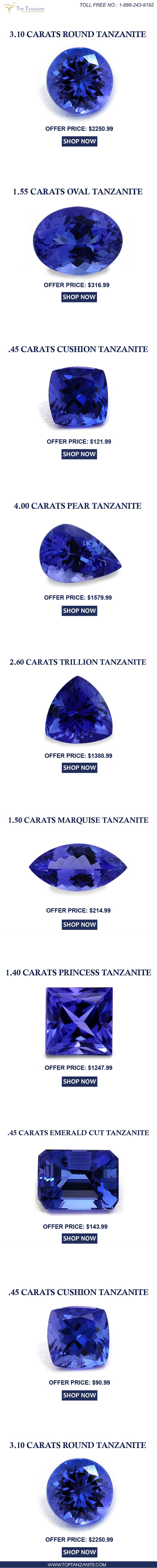 ring richland tanzanite cut product img halo premier princess diamond ct trillion