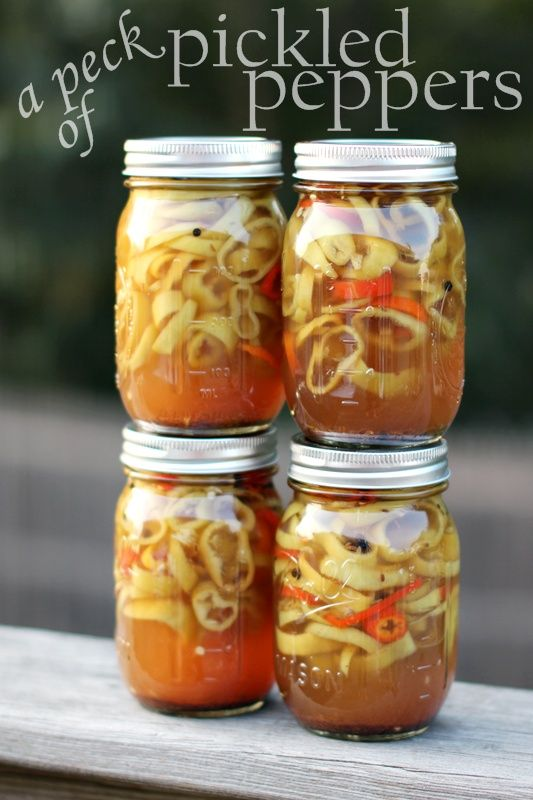 Sweet and Spicy Pickled Banana Peppers (Canning)