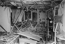 The aftermath of the failed July 20, 1944 plot to kill Hitler