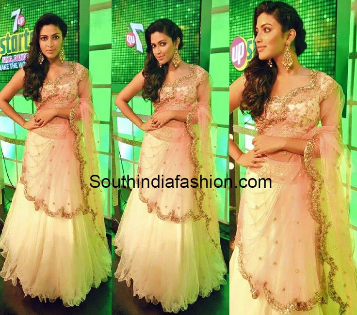 Amala Paul in Anushree Reddy Lehenga