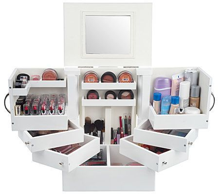 Luxury Deluxe Wood Cosmetic Box w/Mirror by Lori Greiner — QVC.com