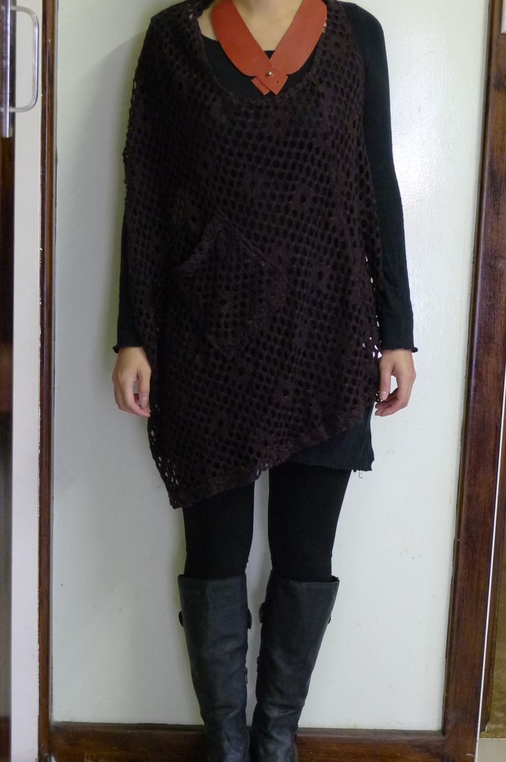 Knitted Pullover Vest + long boots