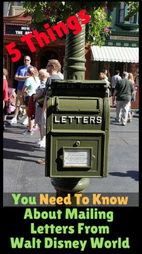 I love mail! Mail from Walt Disney World is even more magical. Here are 5 things you need to know about mailing letters from Walt Disney World.
