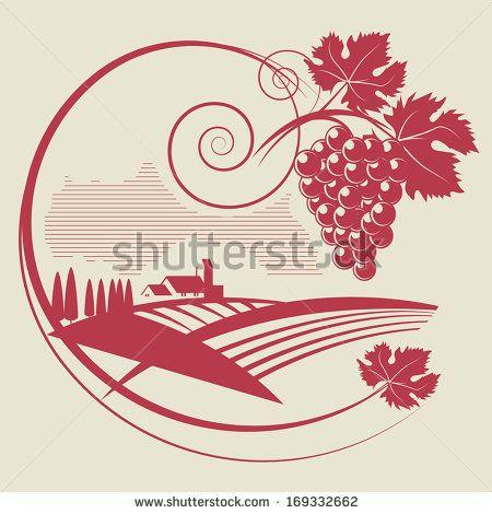 Arte e grafica vettoriale d'archivio di Wineyards | Shutterstock