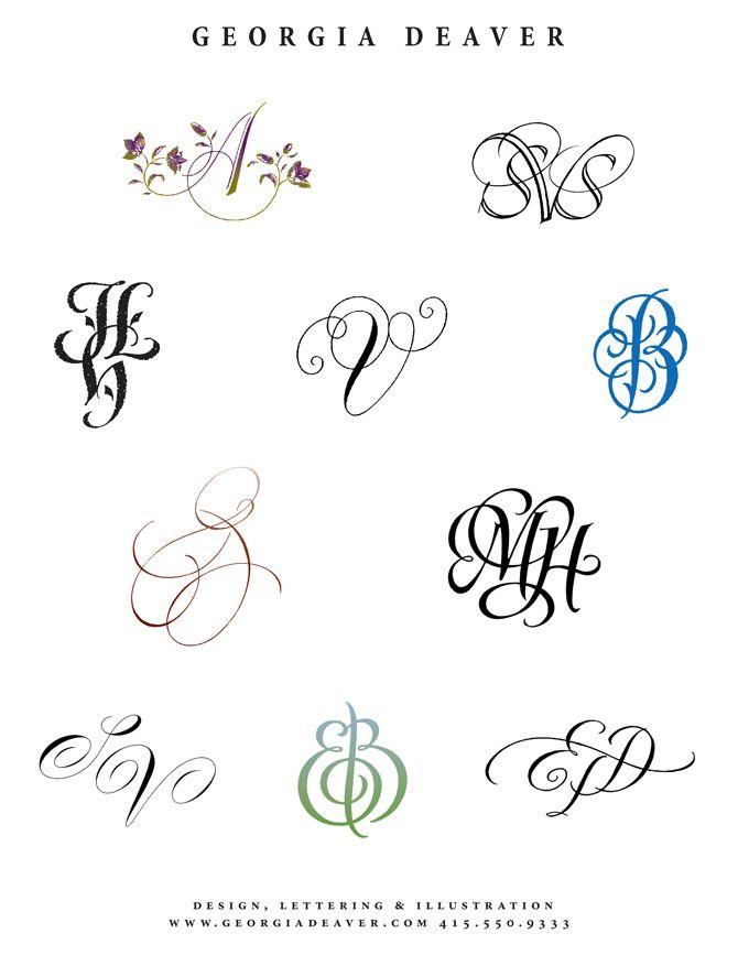 Image detail for -Georgia Deaver Monograms