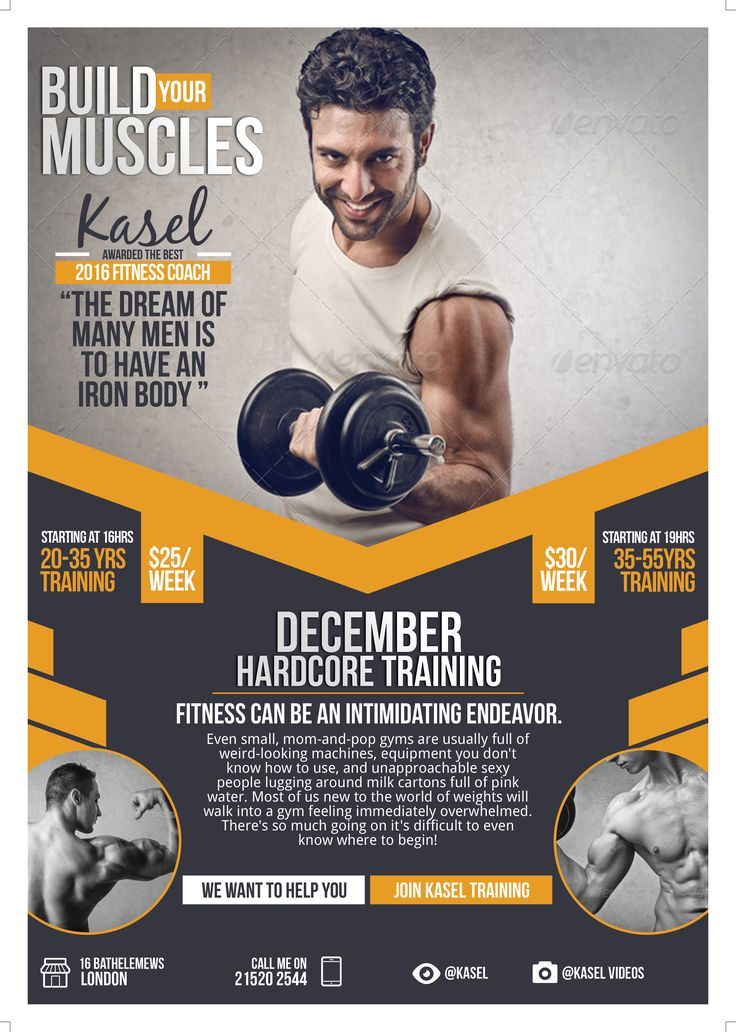 20 best wwwbehancenet images on Pinterest Indesign templates - fitness flyer template