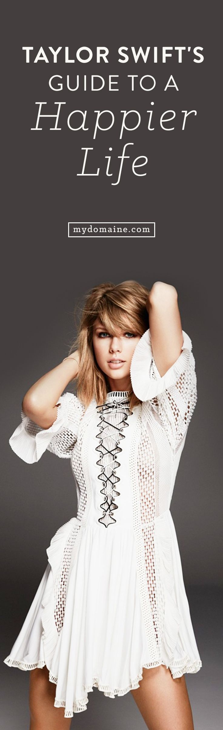 """""""If you're lucky enough to be different don't ever change."""" - Taylor Swift // #MyDomaineQUOTES"""