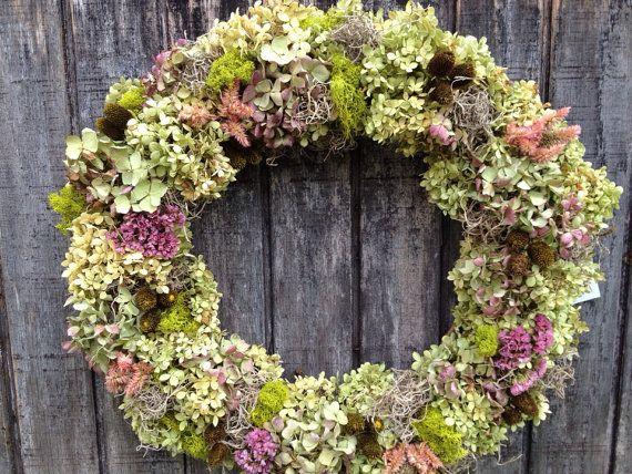 Hydrangea Wreath by RebeccaWattsDesigns on Etsy, $65.00
