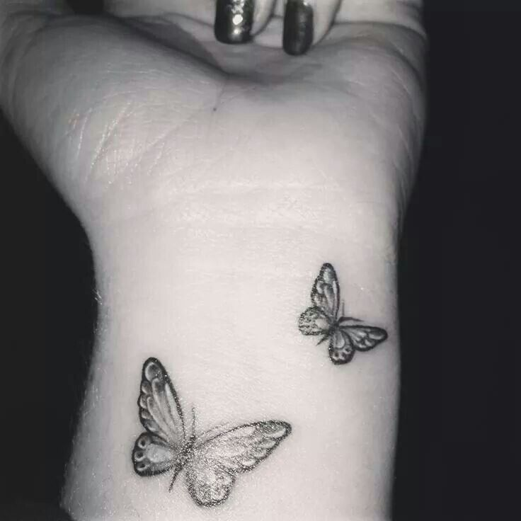 Cute butterfly tattoo for Girls