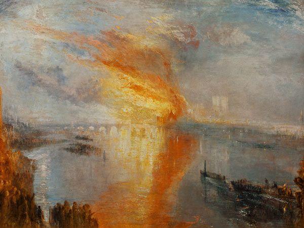 Titre de l'image : William Turner - Le feu du bâtiment parlementaire, 16 octobre…