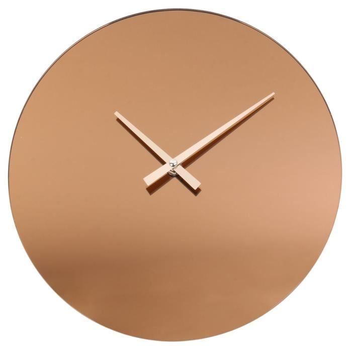 Horloge Murale Miroir Fume Cuivre 30 Cm En 2020 Horloge Murale Miroir Horloge Murale Et Parement Mural