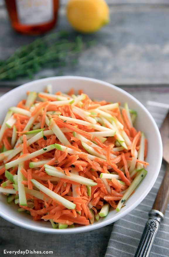 With carrots, apples and a light (no-mayo) dressing, our slaw recipe pairs perfectly with just about everything. You'll love it!