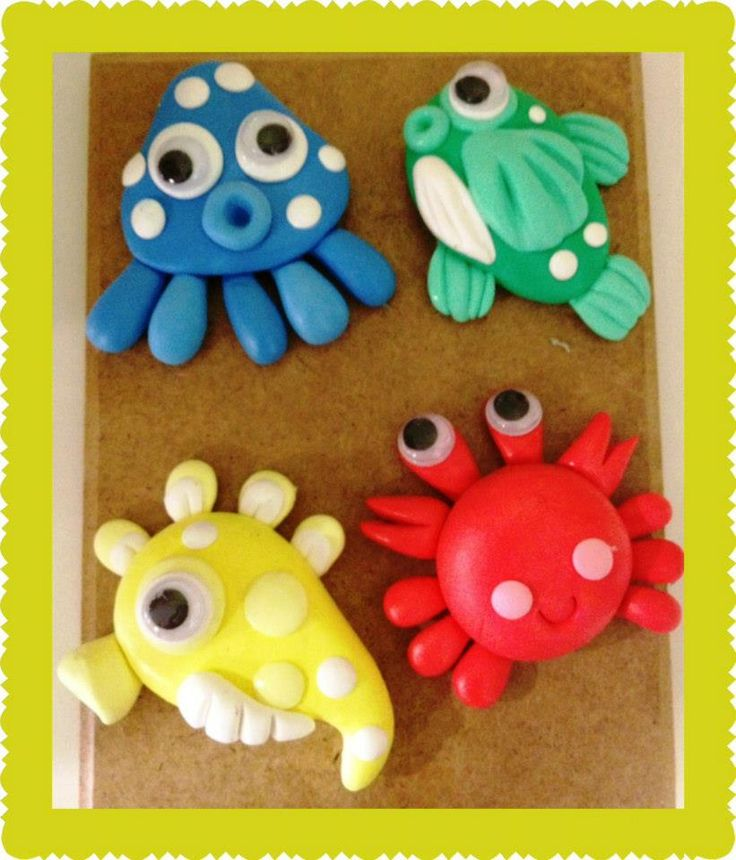 These look pretty easy to make and are so cute! clay crafts - http://www.g4ucraft.com/
