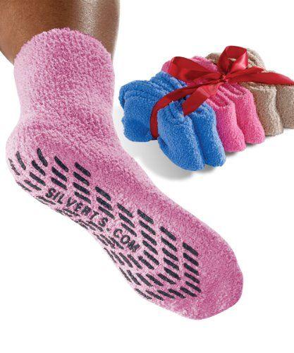 Non Skid Socks - Hospital Socks - 6 Pack $29.98