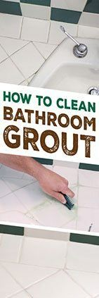 Need help cleaning bathroom grout? Check out this tip from Simple Green.