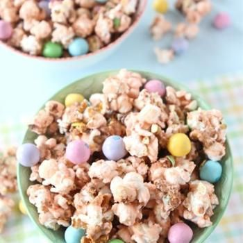 Salted Caramel Easter Popcorn. Looks like a fun Easter treat for the ...