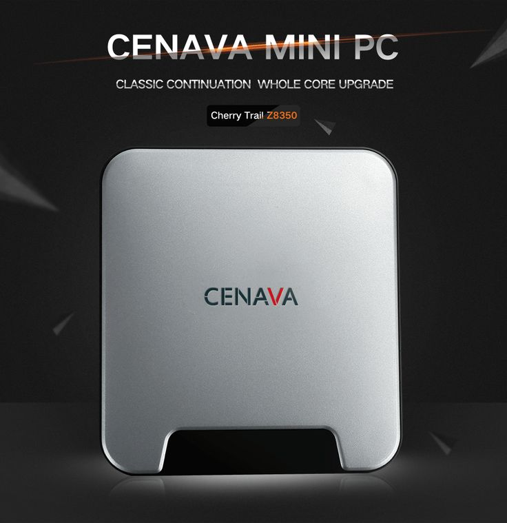 Cenovo MINI PCs Windows10 Intel X5-Z8350 Quad Core 4GB/64GB Bluetooth4.0 H.264 WiFi Mini PC TV Box
