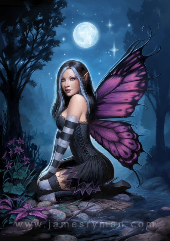 Gothic-type fairy?    Night Fairy by ~namesjames on deviantART