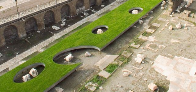 West 8 Urban Design & Landscape Architecture / projects / Wonder Holland  To revitalize the ancient Mercati di Traiano, an archaeological site, is by itself a peculiar intervention.