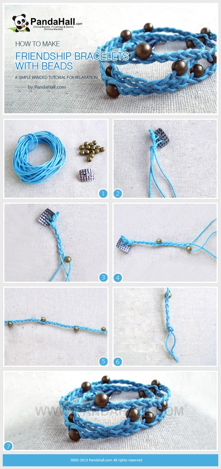 Here it is a simple tutorial about how to make friendship bracelets with beads; even as a green hand, you can enjoy the time of making friendship bracelets with beads just for relaxation.