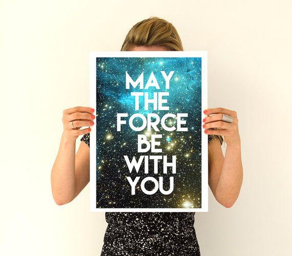 Star wars inspirerende poster, vaders dag cadeau Wall Art - Star wars citaat kunst, muur opknoping star wars, Geek kunst PWT202