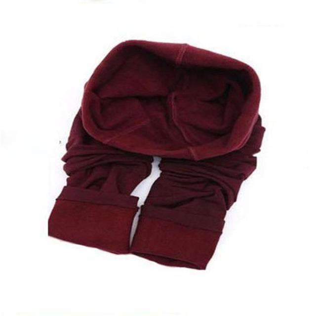 Fashion High Elastic Waist Winter Plus Velvet Thicken Women Leggings Warm Pants Good Quality Cashmere Thick Trousers Female 3201