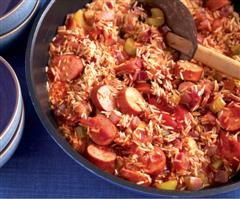 Rosemary Conley Diet and Fitness Clubs - UK - Smoked Sausage Jambalaya. I make this all the time - my boys adore it!!!