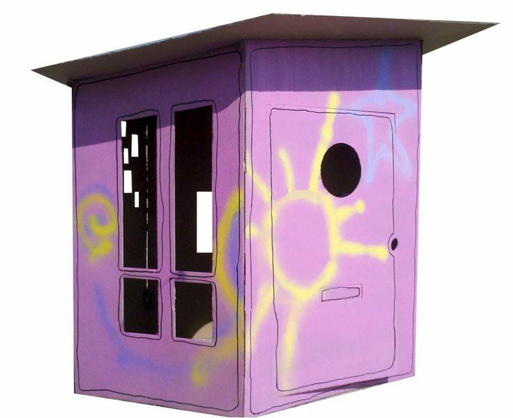 Casa de Cartón ecológica #kids #juguete #casita #creativo #diseño #pintar #online http://www.regalosdirecto.com.mx/para-el-bebe/igriega-kids/casa-de-carton.html