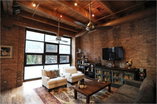 relaxing place: The Doors, Dreams Home, Dreams Houses, Living Rooms, Brick Wall, Garage Doors, Garage Renovation, Exposed Brick, Expo Brick