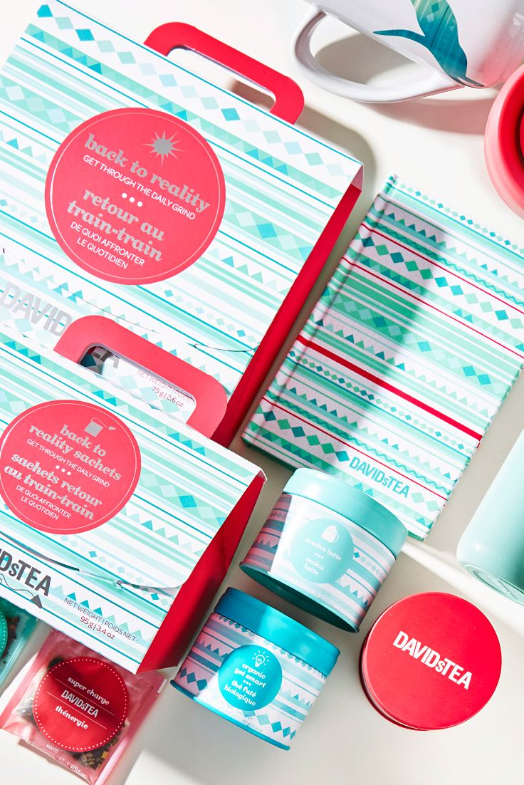 Get back to the daily grind with energizing teas and take-anywhere accessories.
