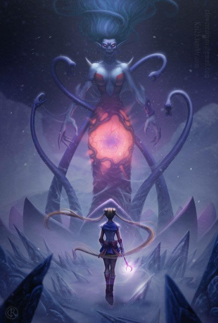 Sailor Moon Fan Art The Battle Against Queen Metallia Beryl