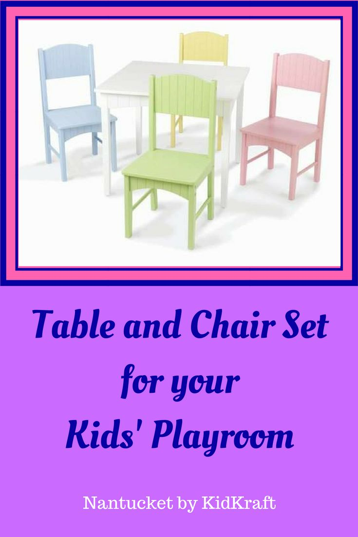Decorative yet functional, the KidKraft Nantucket Kids' 5 Piece Table and Chair Set is a great choice for your child's playroom. This table and chair set includes a square-shaped table and four chairs. It features wooden construction which ensures years of reliable use. This table can be placed in a child's room as a study table. It has a seating capacity for four kids. The Nantucket Kids' 5 Piece Table and Chair Set by KidKraft is non-toxic and safe for your kids.    #ad