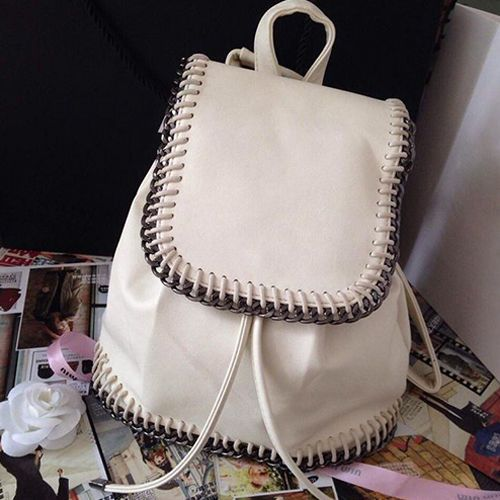 New 2014 Stylish Leather Backpack College Book Bag Girl School Shoulder Rucksack