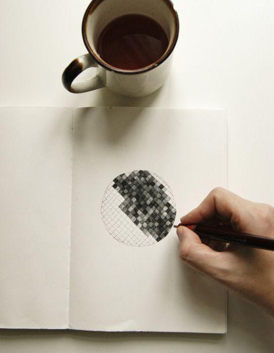 Drawing in my sketchbook