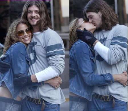 a young Robin Thicke & and wife Paula Patton