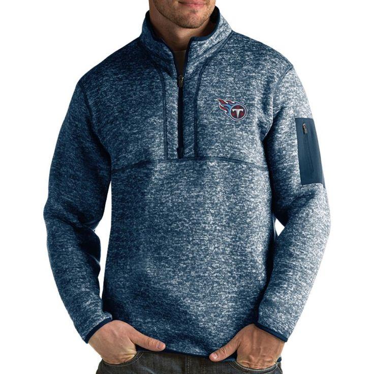 Antigua Men's Tennessee Fortune Navy Pullover Jacket, Size: Medium, Team