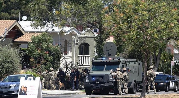 Military like response to one suspect shuts down American neighborhood