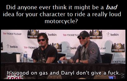 Norman & Michael, The Walking Dead ... Daryl, don't give a f**k