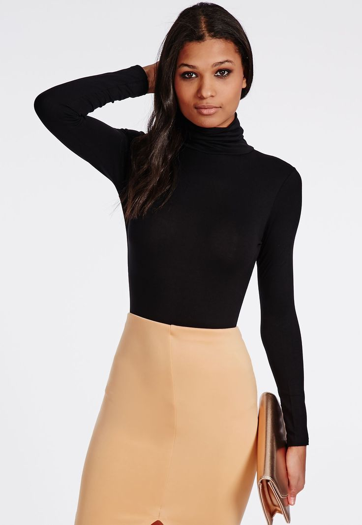 Long Sleeve Turtleneck Dress Tops