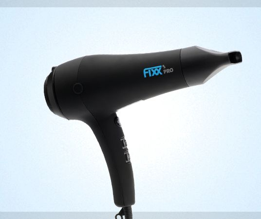 FixxRx Pro Hair Dryer — FixxRx  Separate speed and heat settings for more control, Cool Shot setting to help set styles in place, low electromagnetic field that prevents hair damage, Far-infrared technology to produce a more gentle heat flow, A lightweight design to reduce arm, wrist and finger fatigue, 3m power cord, concentrator and diffuser included