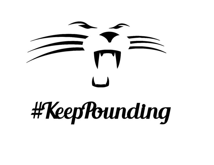 Keep Pounding Vinyl Decal, Yeti Decal, Car Decal, Laptop Decal, Super Bowl 50, Carolina Panthers, Panthers, #KeepPounding by CenturyParkDesigns on Etsy