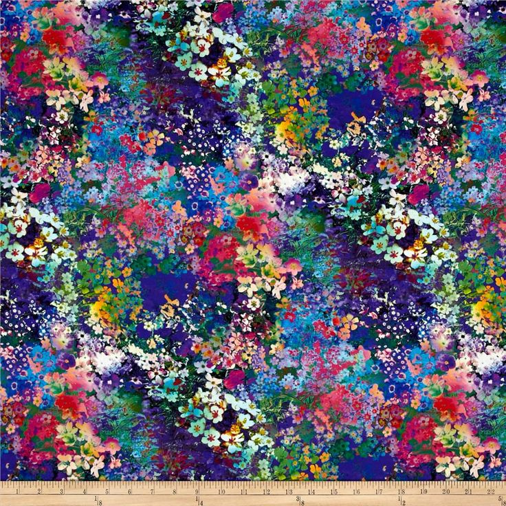 Wildwood Way Digiprint Floral Impressions Multi from @fabricdotcom From RJR, this cotton print fabric is digitally printed and features a watercolor-like floral design for a fresh take on floral. Perfect for quilting, apparel and home decor accents. Colors include purple, lavender, lilac, shades of blue and green, magenta, pink, red, coral and peach.