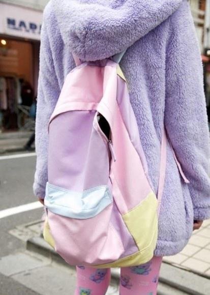 Hmmm, the backpack...but that fuzzy purple jacket! I waanttt it looks cozy