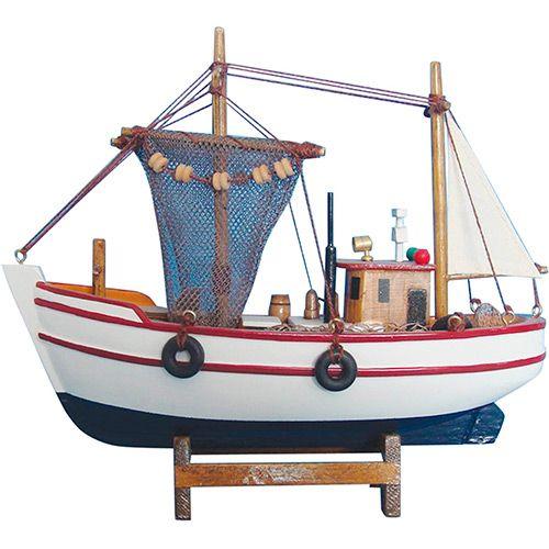 Barco Pesqueiro Decorativo In0023 de Madeira - BTC