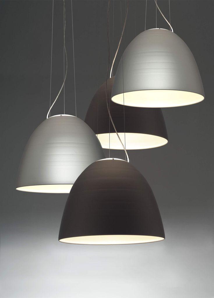 Aluminium pendant #lamp NUR by ARTEMIDE | #design Ernesto Gismondi