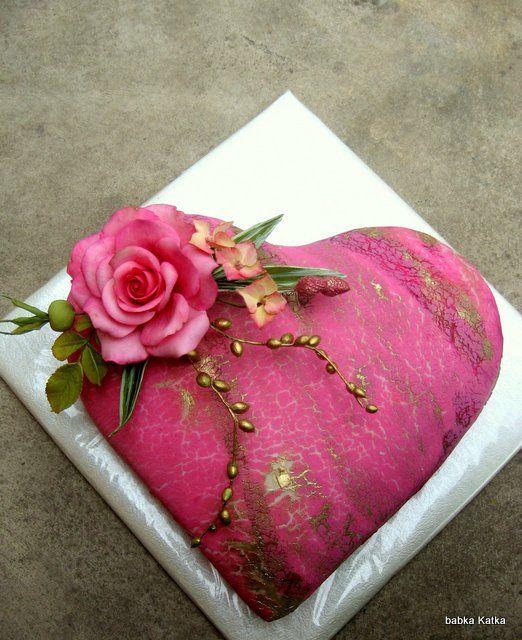 Pink heart -  Ružové srdiečko na želanie