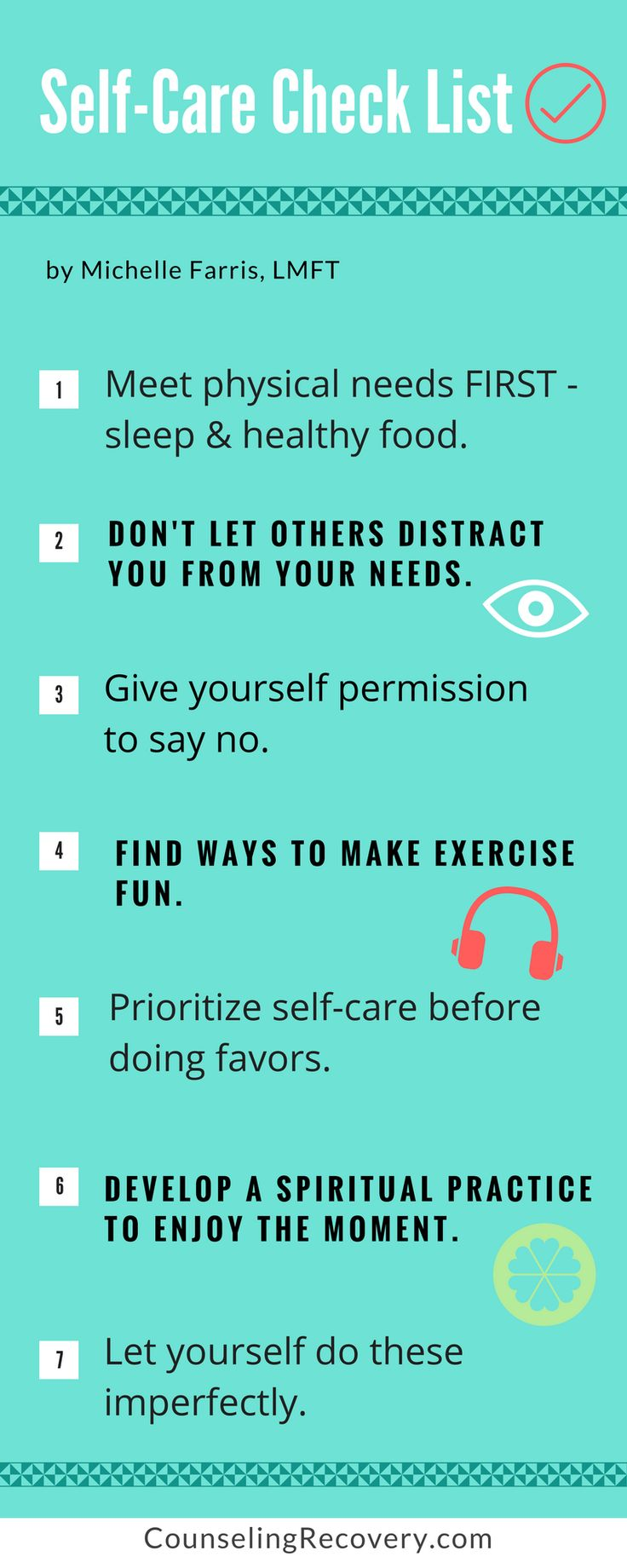Learn how to take better care of yourself and why it's called self-care - not selfish! If you struggle with codependency, self-care is a challenge. To read more click the image.